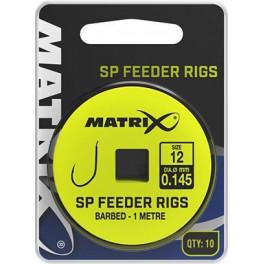 PRZYPON MATRIX SP FEEDER RIGS BARBED ROZM.12 0,145MM 1M