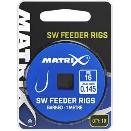 PRZYPON MATRIX SW FEEDER RIGS BARBED ROZM.12 0,165MM 1M